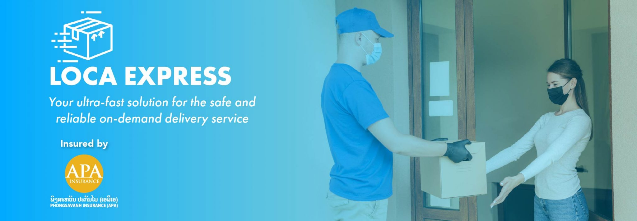 LOCA EXPRESS Ultra-fast Door-to-door package delivery solution for personal or business